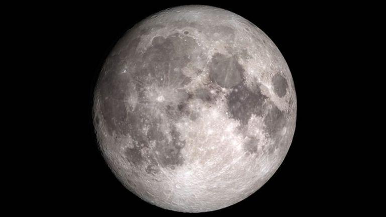La Luna. Imagen Crédito: NASA/GSFC