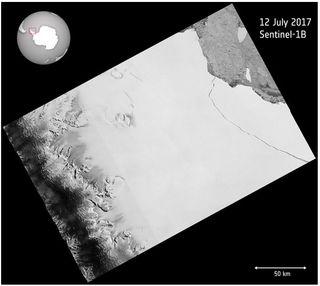 El nacimiento de un gigante: el iceberg A-68