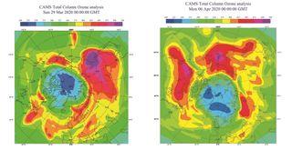El ozono sobre el Ártico ha alcanzado valores mínimos históricos
