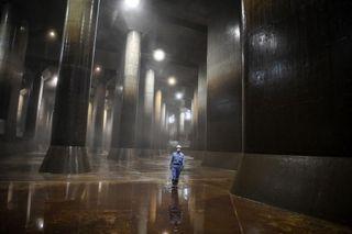 'Partenón' subterráneo: sistema que protege a Tokio de inundaciones