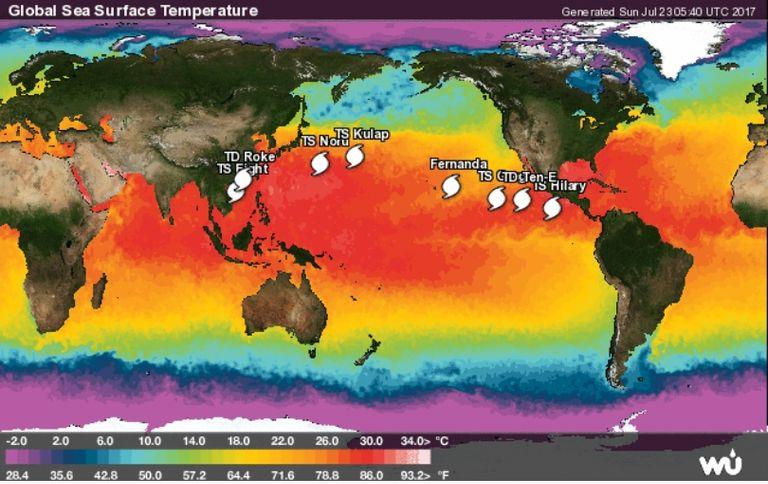 El Primer Tifón De 2017 Y El Efecto Fujiwhara En Directo