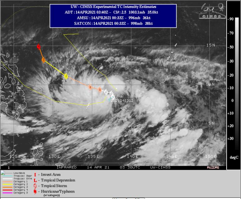 El primer tifón del año en el Pacífico occidental: Surigae