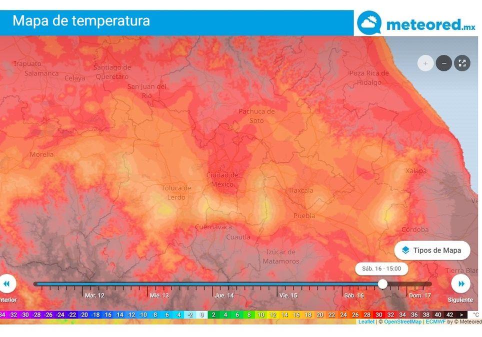 Pronóstico de temperaturas altas para el fin de semana