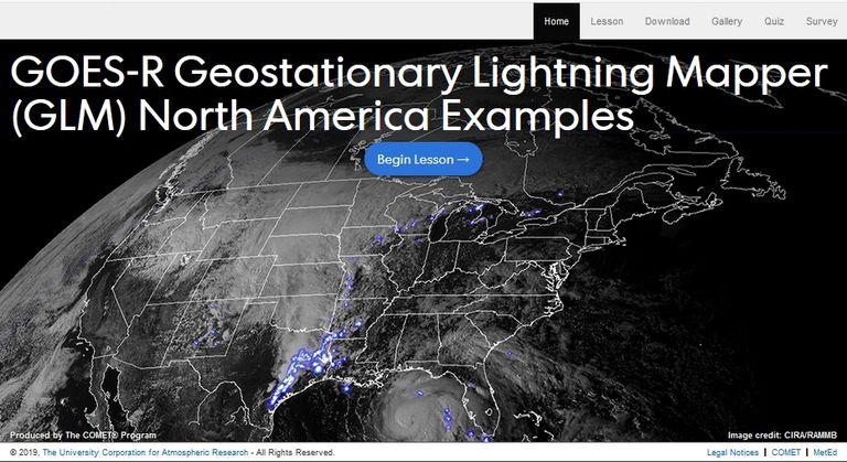 El Sensor De Rayos Geoestacionario De Goes-R: Ejemplos Sobre Norteamérica