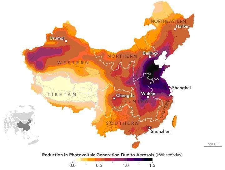 El Smog Reduce La Energía Solar En China