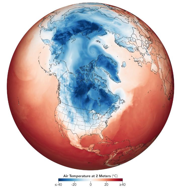 El Tiempo ártico Irrumpe En América Del Norte Con Fuerza
