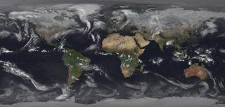 El tiempo global en diciembre de 2017 desde el espacio