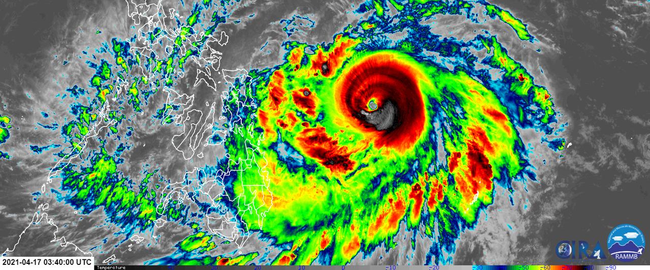 El tifón Surigae se ha intensificado y amenaza a Filipinas