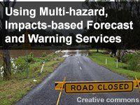 El uso de los servicios de pronóstico y alerta multirriesgo: impactos