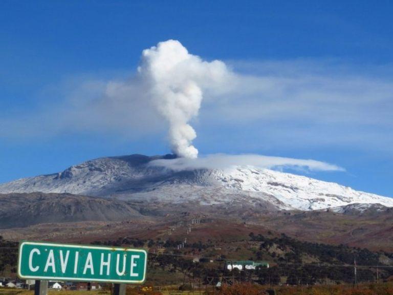 Volcán Copahue alerta naranja Caviahue