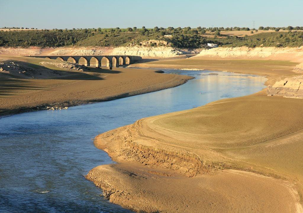 Embalse de Ricobayo, en la cuenca del Duero.