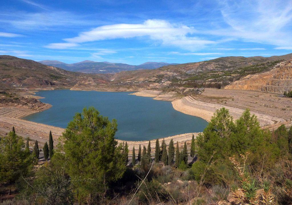 Embalse de Benimar, en la provincia de Almería, en la cuenca Mediterránea andaluza.