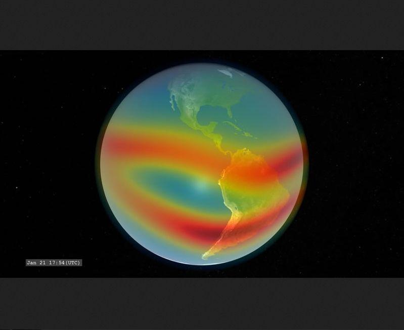 Los E-TBEx CubeSats explorarán cómo las señales de los satélites a la Tierra pueden interrumpirse a medida que pasan a través de esta región. Imagen de NASA