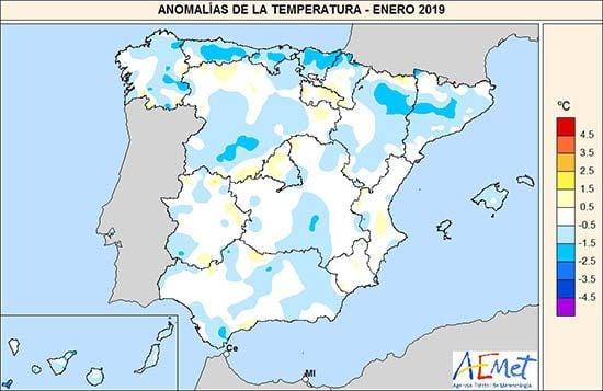 Enero De 2019 En España: Normal En Temperaturas Y Precipitaciones