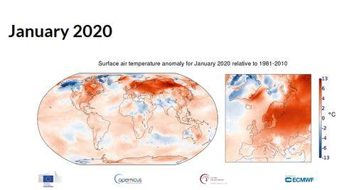 Enero de 2020: el enero casi más cálido en los registros