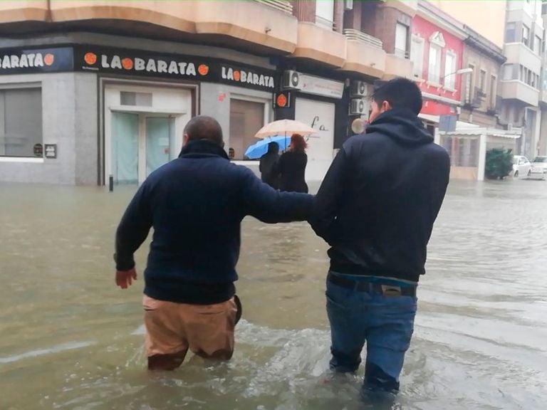 Efectos de la gota fría en el Mediterráneo