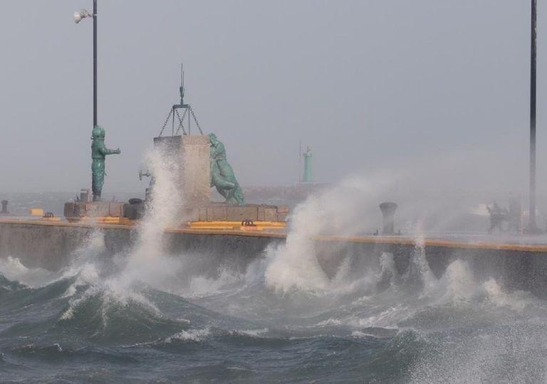 """""""Norte"""" en el puerto de Veracruz"""