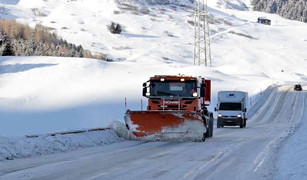 Il est ainsi tombé jusqu'à 15 cm de neige à l'aéroport de Lyon Saint-Exupéry.