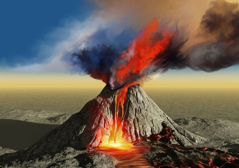 Erupções vulcânicas Vulcão
