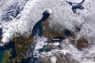 Escandinavia nevada pero menos