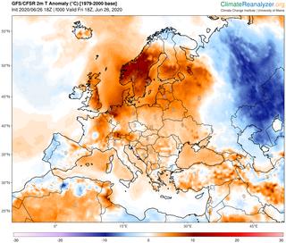 Escandinavia: tiempo muy cálido en el Golfo de Botnia