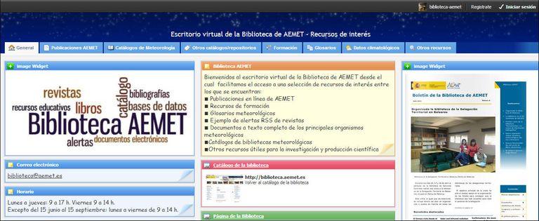 Escritorio Virtual De La Biblioteca De Aemet