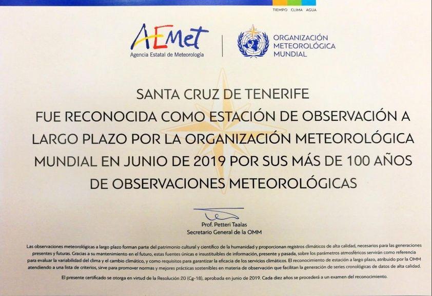 Las observaciones meteorológicas a largo plazo son parte del patrimonio cultural y científico insustituible de la humanidad