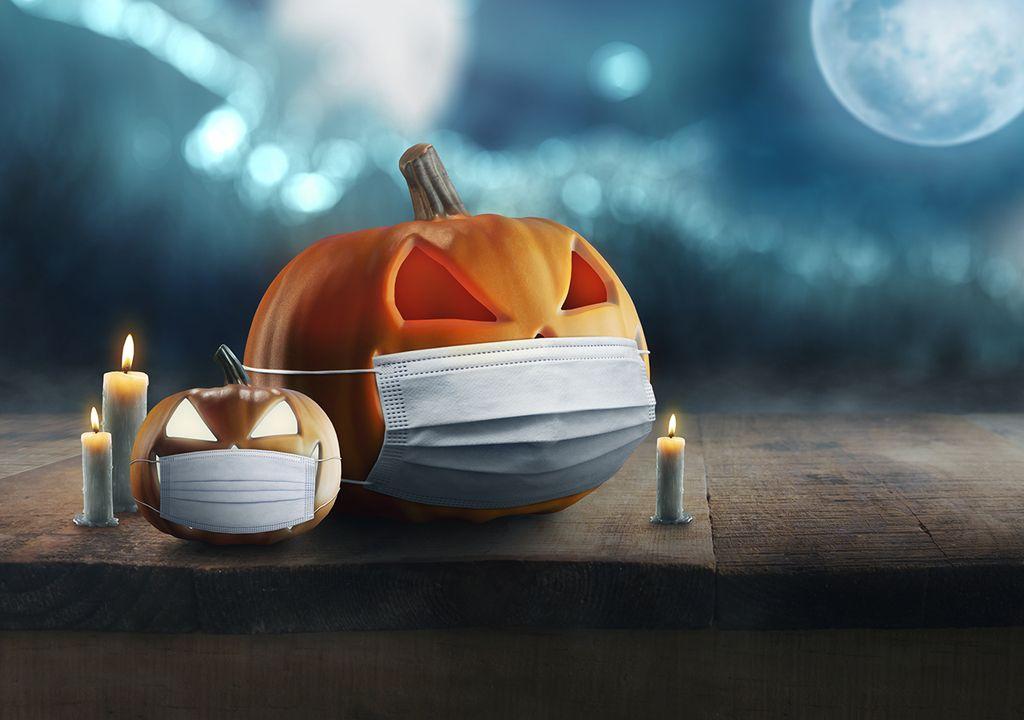 Blauer Mond an Halloween