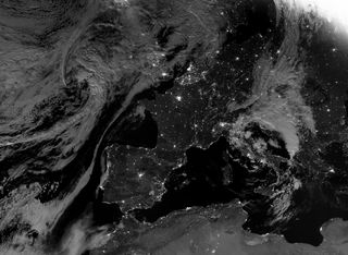 Europa occidental y sus luces nocturnas