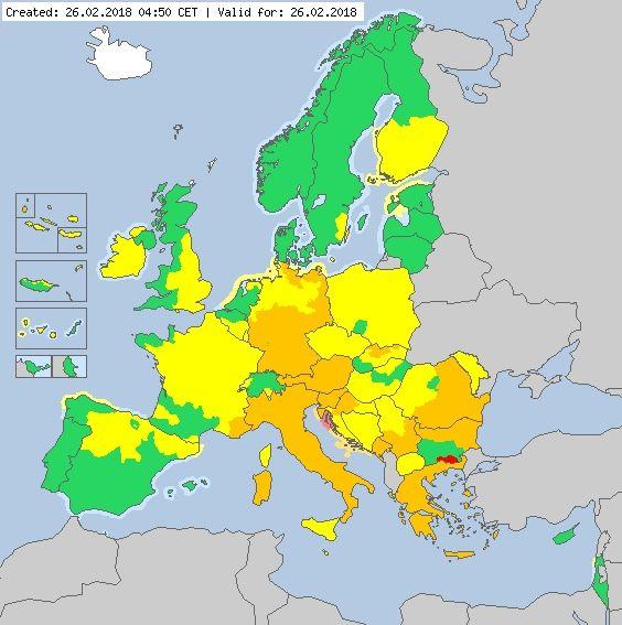 """Europa Tirita De Frío: Avisos Activados Por Temperaturas Bajas Por La """"siberiana"""""""