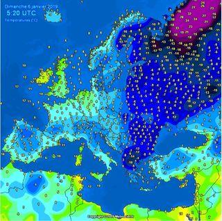 Europa tirita de frío: nevadas en zonas del Mediterráneo y Centro Europa