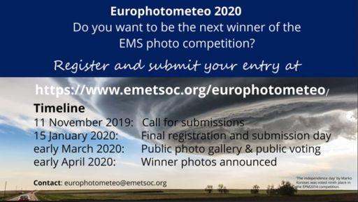 Europhotometeo 2020: abierto el plazo de presentación de fotos