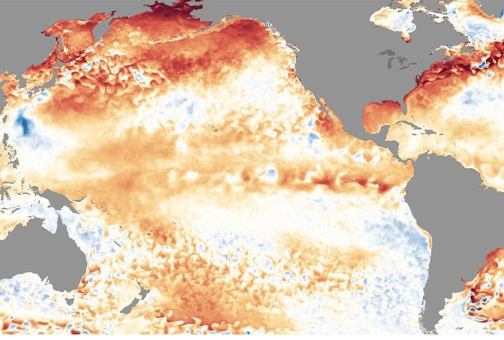 El Niño, próximo a aparecer sobre el Pacífico, extendiendo sus efectos al invierno