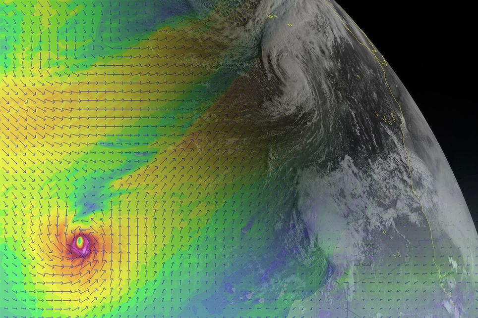 El huracán Leslie entrará de madrugada en España