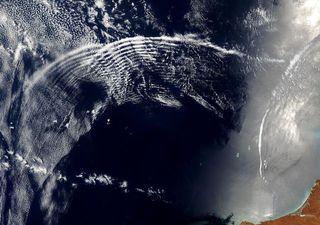 Extensas ondas de gravidade foram registradas no Oceano Atlântico Sul