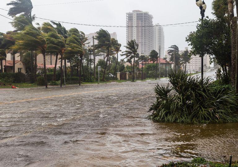 Calles inundadas en Florida