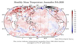 Febrero 2020: el 2º más cálido según JMA