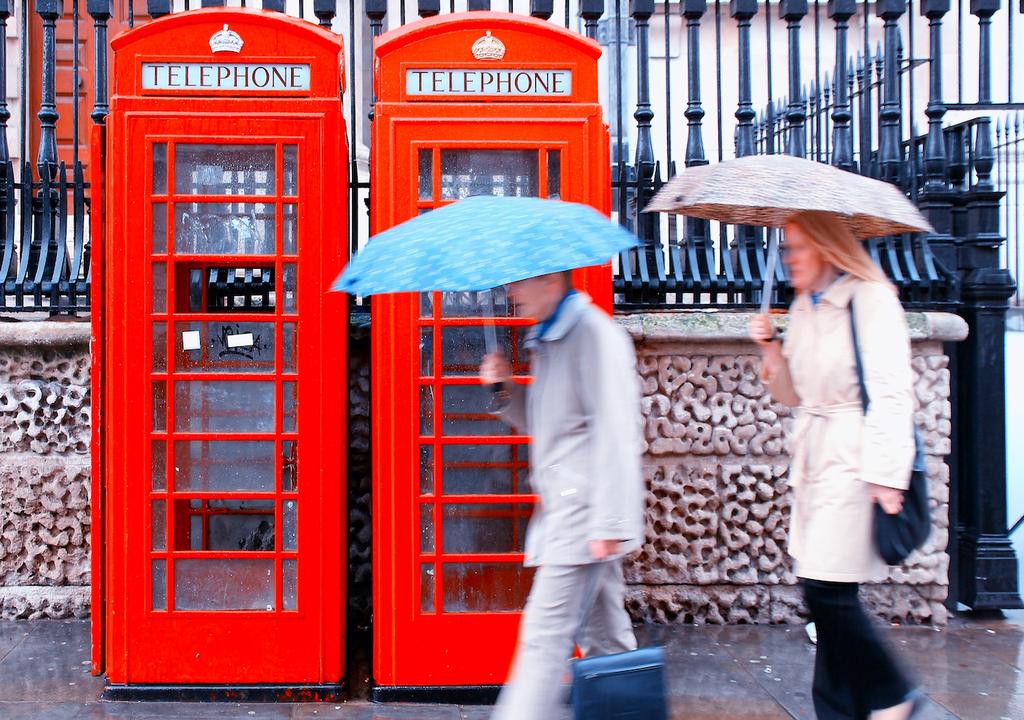 Rain in London.
