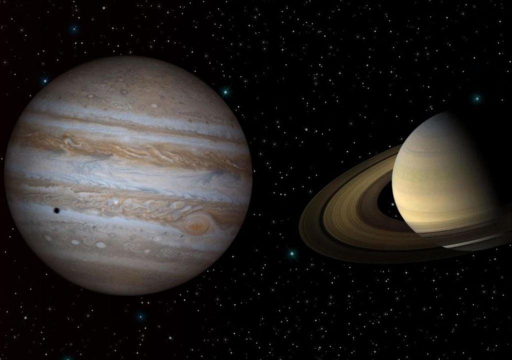 Júpiter e Saturno