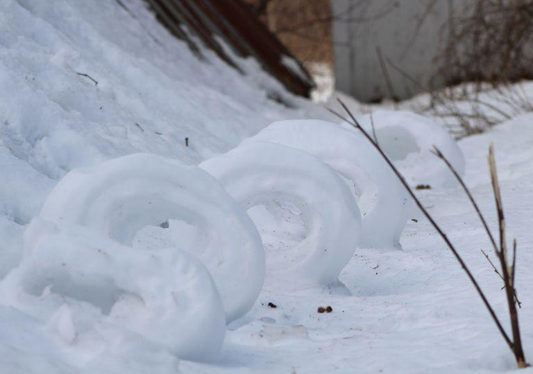 rollos, rodillos, nieve, curiosidades