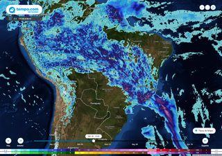 Fim de semana de muita chuva para parte do Centro-Oeste e Sudeste