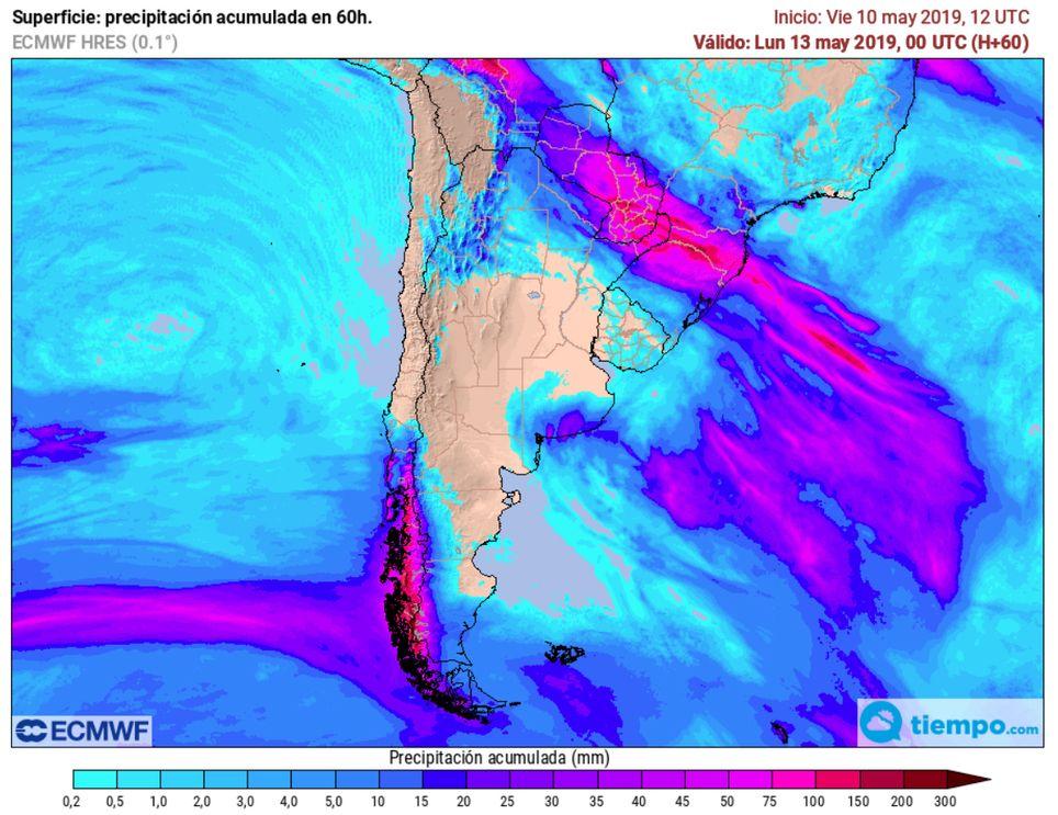 Lluvias argentina fin de semana