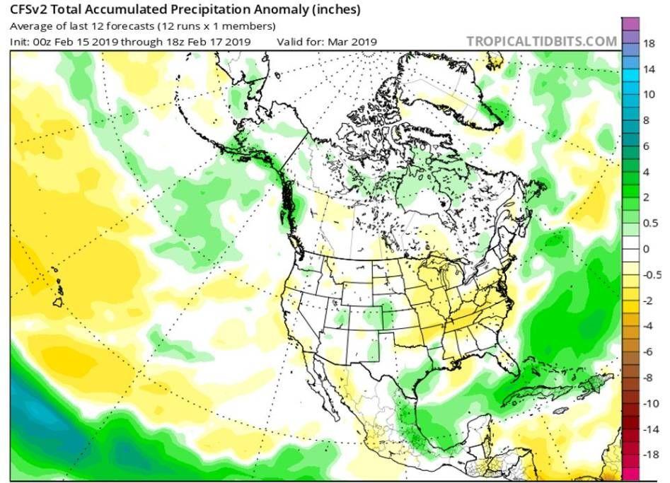 Pronóstico climático modelo CFSv2 para precipitaciones