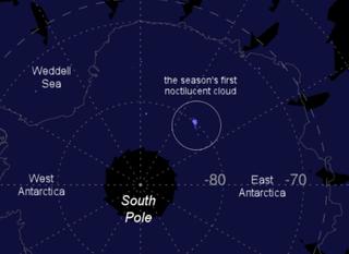 Finalmente comienza la temporada de nubes noctilucentes en el Polo Sur