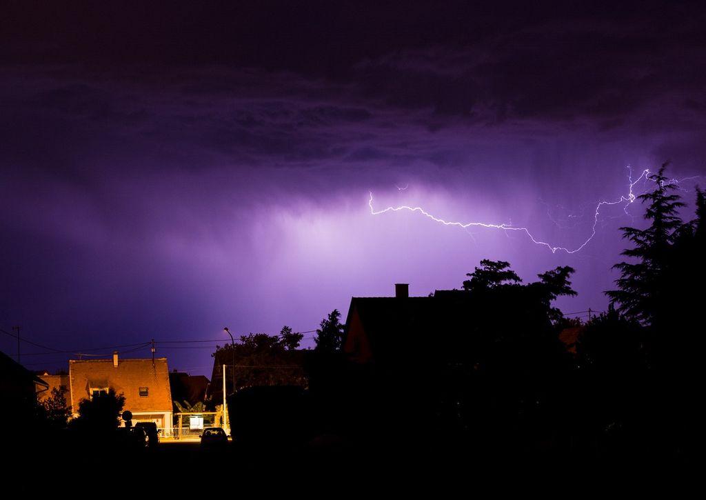 La fin de semaine s'annonce très orageuse avec un risque important de phénomènes violents.