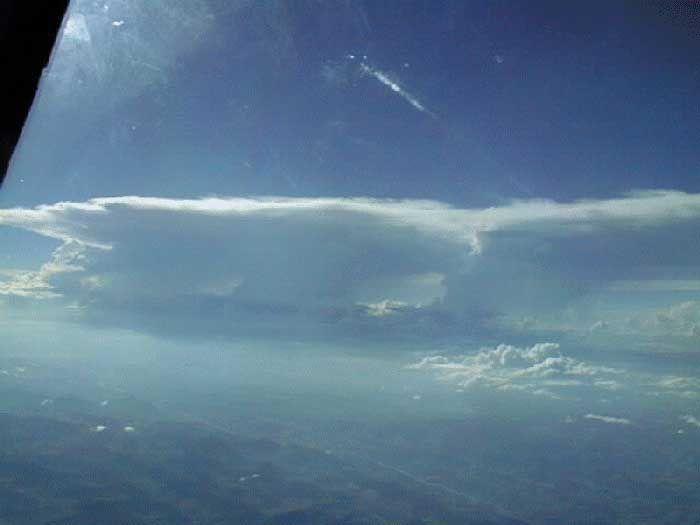 Fotos Tomadas Desde De Un Avión Camino A/de Brasil