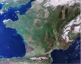 Francia vista por Sentinel-3