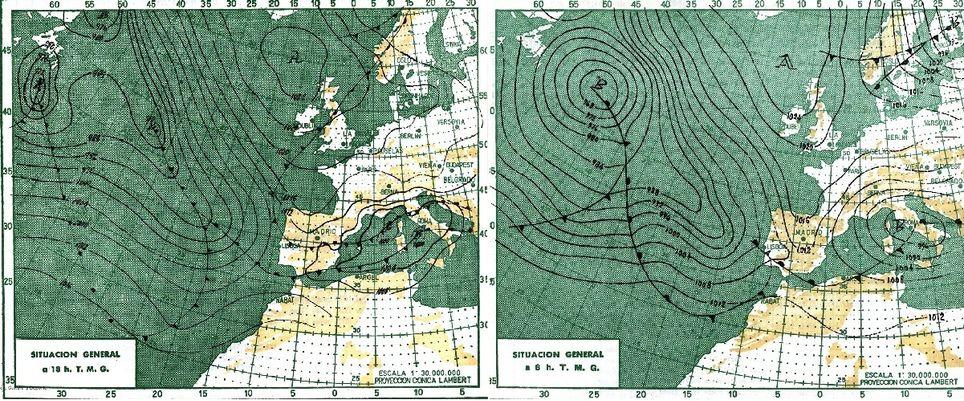 Situación sinóptica en diciembre de 1963