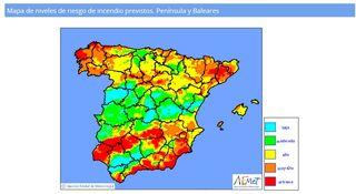 Fuego en Doñana y alrededores