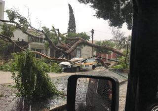 Fuerte lluvia se presenta en Tuxtla Gutiérrez, Chiapas